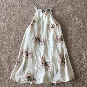 Dresses & Skirts - White and floral shift dress